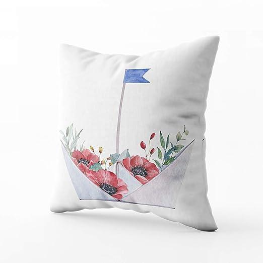 HerysTa - Funda de cojín Decorativa de algodón con ...