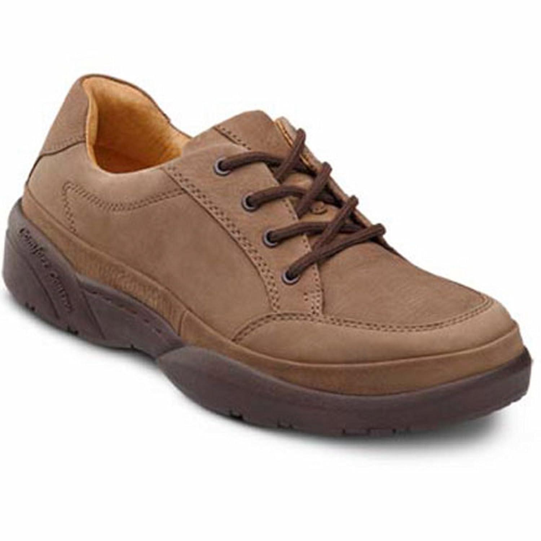 Dr. Comfort Justin Men's Therapeutic Diabetic Extra Depth Shoe Leather Lace -8.0 Medium (B/D) Chestnut Suede Lace US Men Chestnut