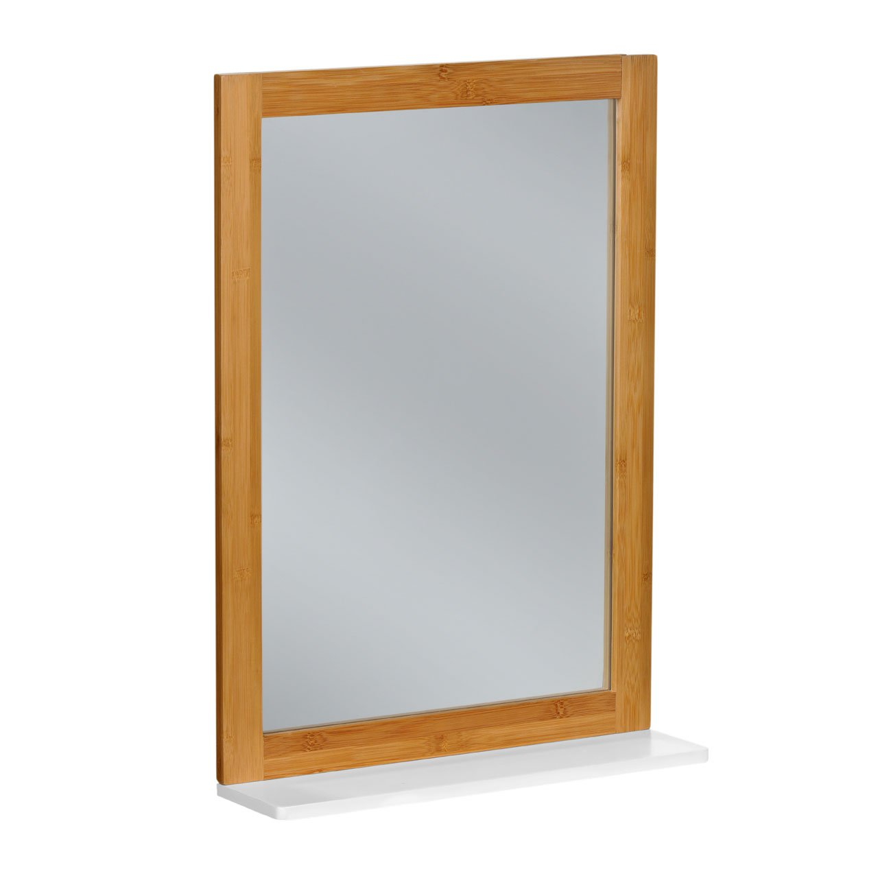 Amazon.com: WALL MIRROR BAMBOO WOOD FRAME WITH MDF WHITE FINISH ...