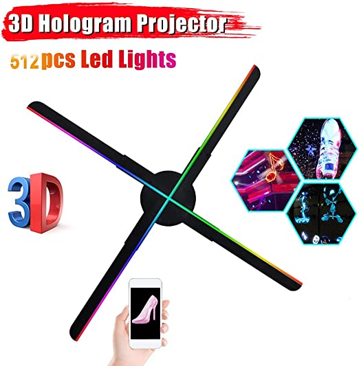 Ventilador holograma 3D Display Feria de visualización, cuatro ...