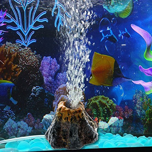 Slaxry Volcano Shape Air Bubble Stone Oxygen Pump Aquarium Fish Tank Ornament Decor