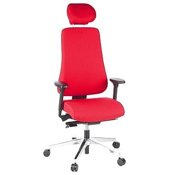 De Tec AccoudoirsUsage Pro Office AbrasifAvec Grande Hjh 400 608420 BureauBureau Anti Taille Chaise RougeTissu IntensifDossier dxQtshrCB