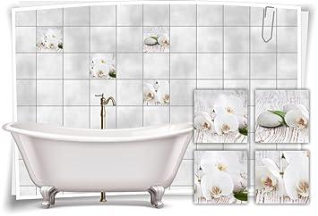 Medianlux Fliesenaufkleber Fliesenbild Blumen weiße Orchidee Spa ...