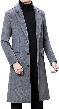 冬の男性厚手のウールコートビジネスファッションカジュアルロングウォームオーバーコートジャケット