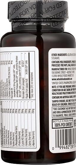 Amazon.com: Whole Alimentos Mercado, Essentials, aminoácidos ...