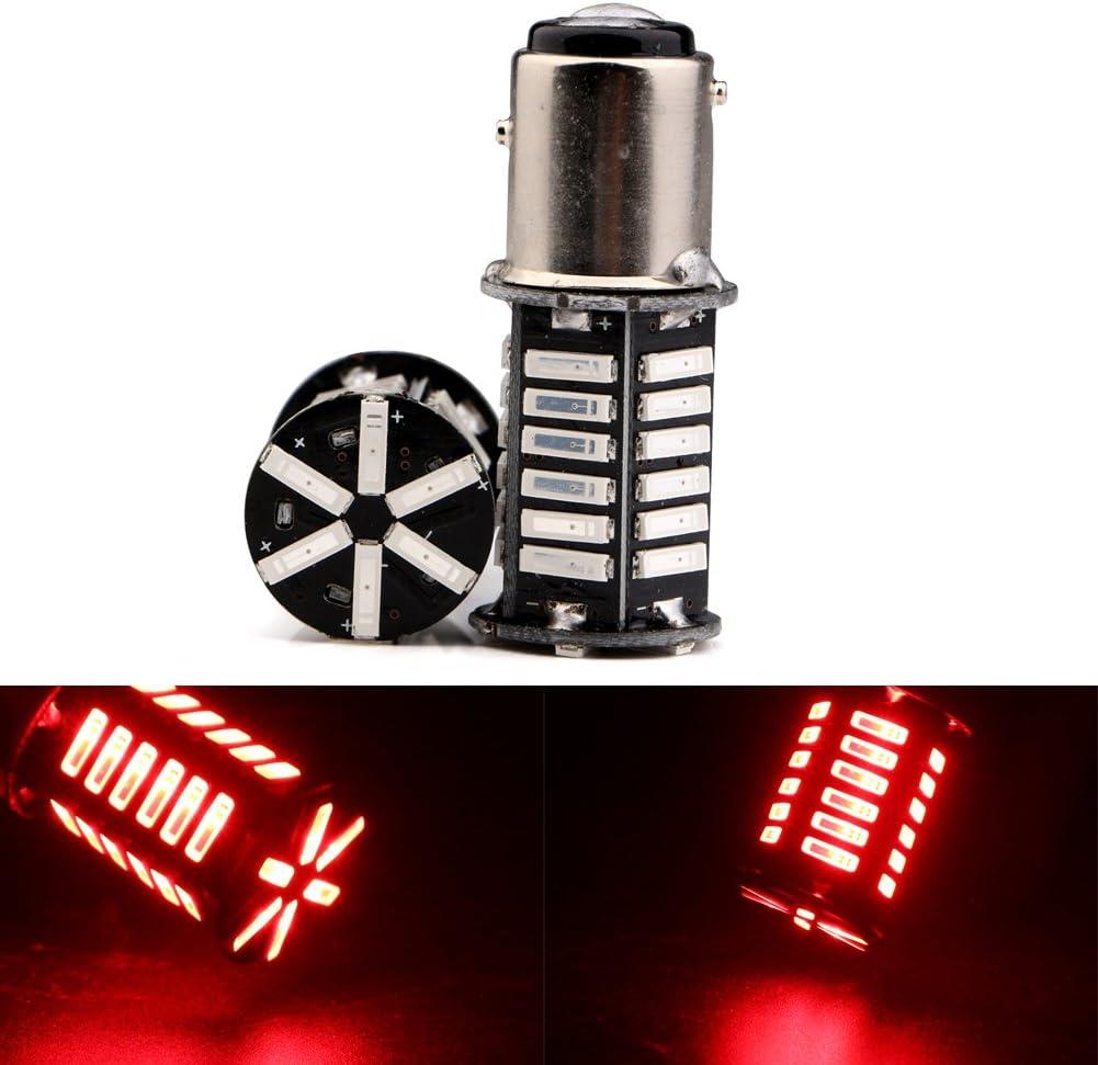 Grandview White 900 Lumens 1157 BAY15D 1016 1034 1157A 1178A 7528 7014 36-SMD LED Bulbs Light 8000K Super Bright RV Turn Signal Backup Reverse Camper 12V 3.6W Pack of 2