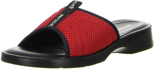 Aerosoft Damen Badeschuhe Pantoletten rot