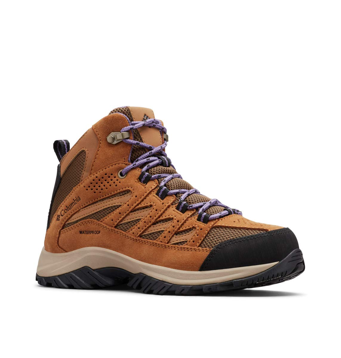 Columbia Women's Crestwood MID Waterproof Hiking Shoe, Dark Truffle, Plum Purple, 11 Regular US by Columbia