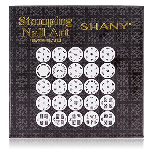 SHANY 2012 Nail Art Polish Stamp Manicure Image Plates set of 25pcs]()
