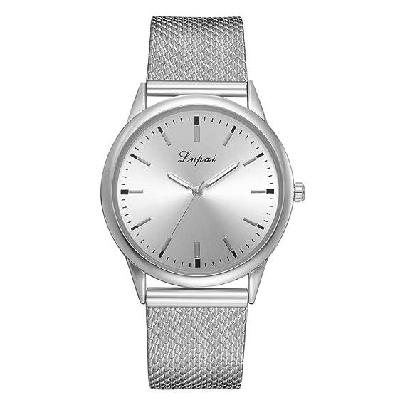 alikeey Reloj Unisex Digital de Cuarzo Reloj de Pulsera Cuarzo Analógico de Pulsera con Correa de Silicona Aleatorio de Mujer Taglia Unica B: Amazon.es: ...