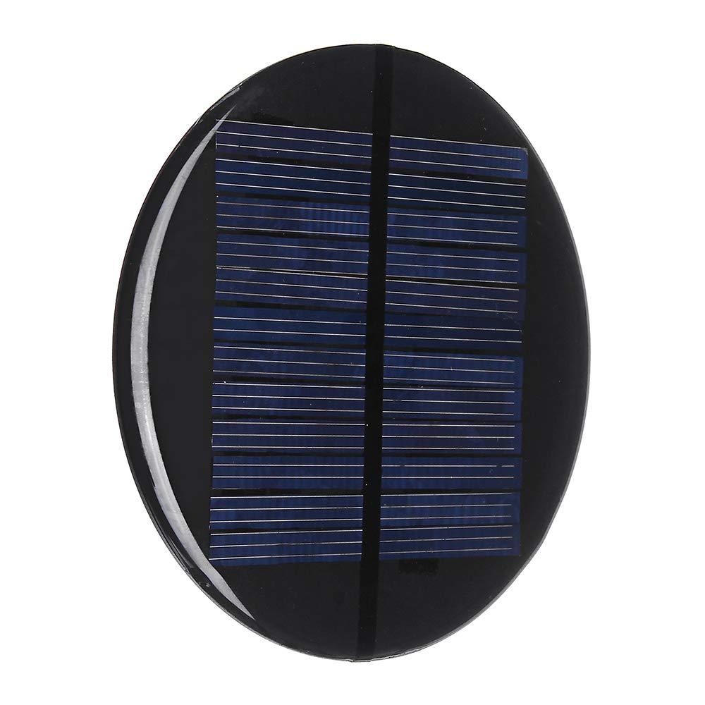 LaDicha F80Mm 6V 2W Stile Rotondo Pannello Solare Policristallino Epossidico Board