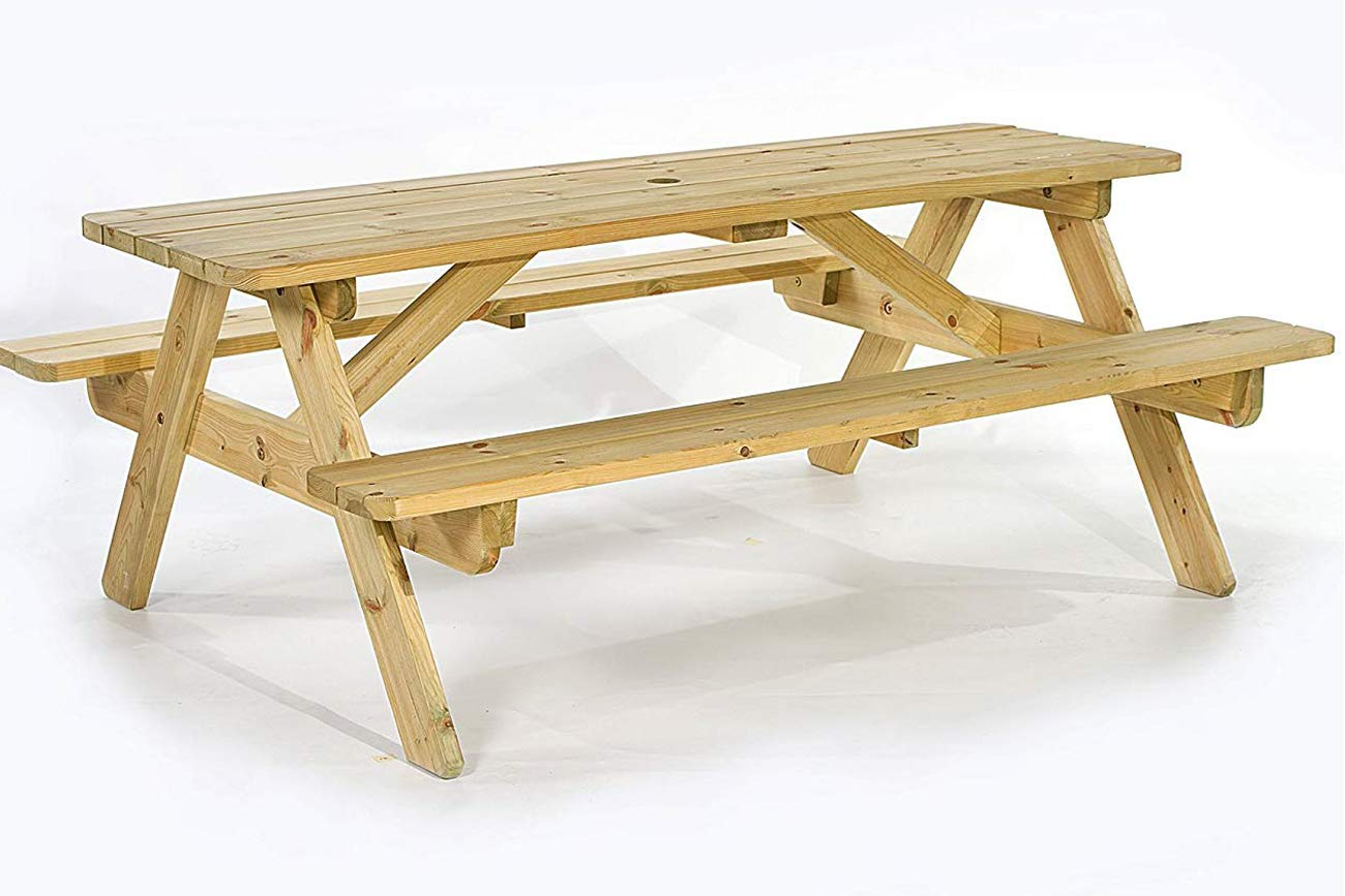 Wooden picnic table 1800mm fsc 100 for gardens parks schools and pubs amazon ca patio lawn garden