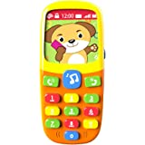 TOYK-3D Music Mobile Phone-Toddler Toys-for Kids Designed Learning Toys-Cartoon Music Phone-The Best Educational Toy Gift-Baby Cell Phone-Toys for 1 Year Old Girl-Toys for 1 Year Old Boys-Baby Toys