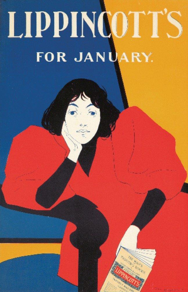 Lippincottの – 1月ヴィンテージポスター(アーティスト: Carqueville ) USA C。1895 36 x 54 Giclee Print LANT-73945-36x54 36 x 54 Giclee Print  B01MPVZG5Z