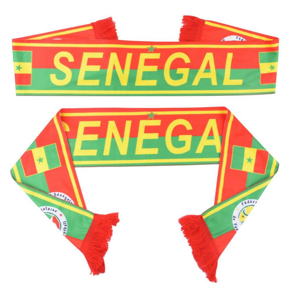 Russland World Cup 2018Fußball Fans schal von Senegal Fußball Fan Schal Senegal National Team Schal Flagge Banner (Senegal)