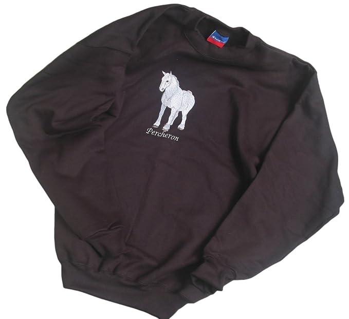 Amazon.com: Big caballo negro para hombre Crew sudadera de ...