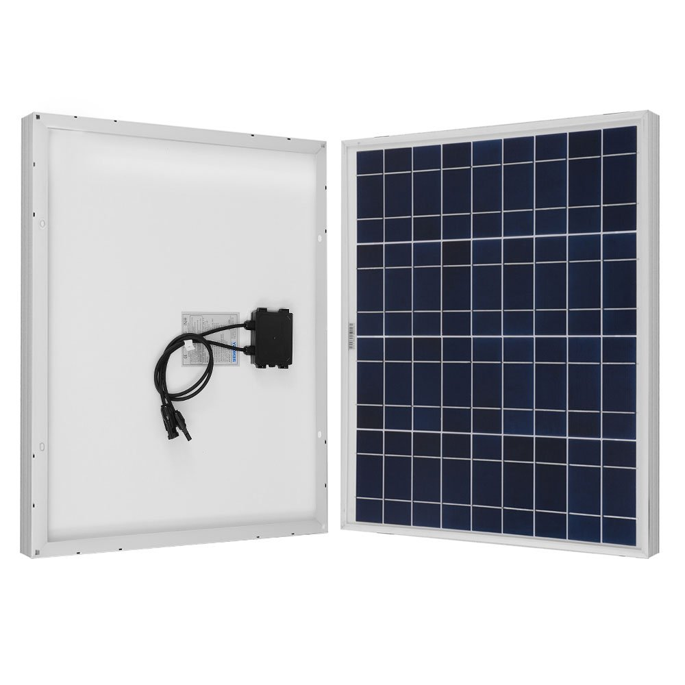 Renogy 50W 12V Polycrystalline Solar Panel High Efficiency Module Off Grid PV Power for Battery Charging, Boat, 50 Watts, Caravan, RV Applications by Renogy