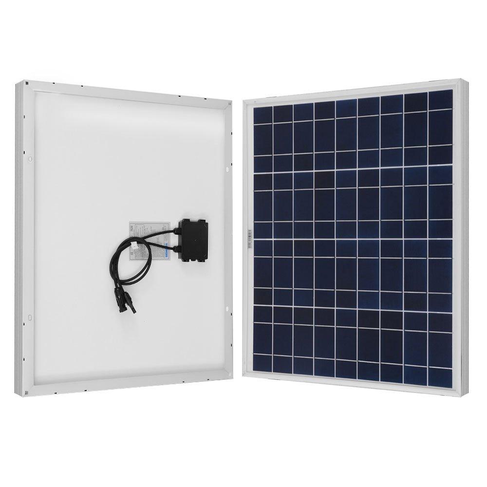 Renogy 50W 12V Polycrystalline Solar Panel High Efficiency Module Off Grid PV Power for Battery Charging, Boat, 50 Watts, Caravan, RV Applications
