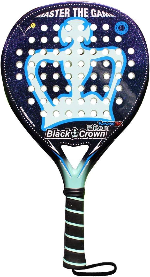 Pala de Pádel Piton Nakano 3k | Black Crown | Nivel: Avanzado, Competición, Profesional | Potencia 95%, Control 90%