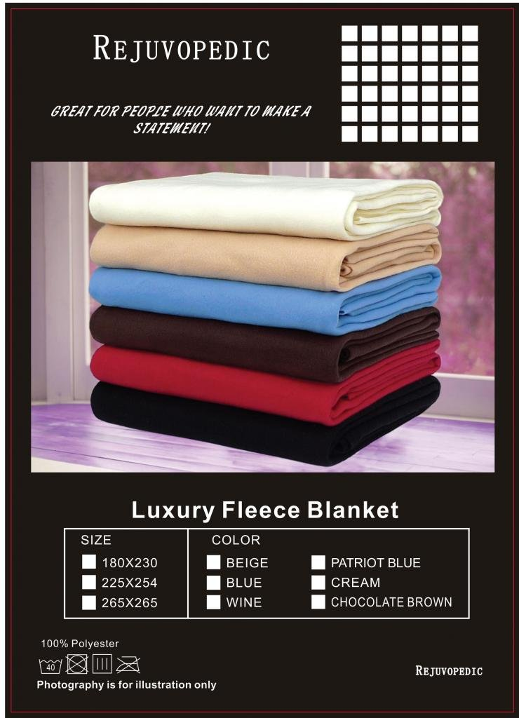 EXTRA LARGE DOUBLE Size Beige 225 x 254cm Fleece Blankets Sofa Throw Throwover, Light But Warm. The Original