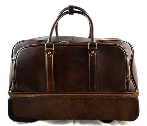 Bolso de viaje con ruedas bolso hombre bolso de cuero bolso ...