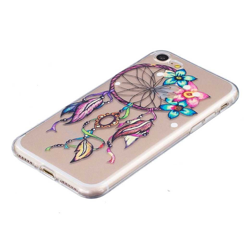 #15 Tree Soft TPU Ultra Thin Cover Shell Case for Apple iPhone 7 Dandelion Cover Case for Apple iPhone7 with Free Tempered Glass Screen Protector BoxTii iPhone 7 Case