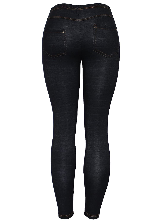 ba0260bfe4e New Ladies Womens Skinny Fit Black Blue Denim Effect Big Plus Size Jeans  Jegging Leggings Size 14-28  Amazon.co.uk  Clothing
