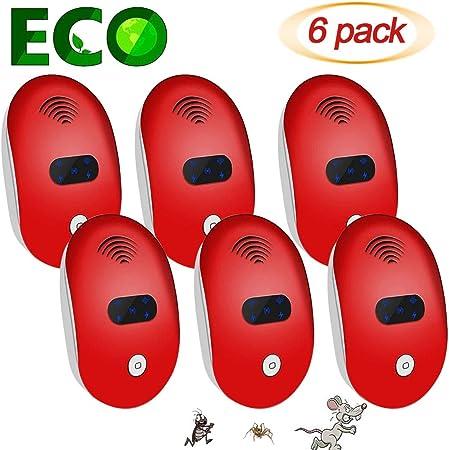6 Pack Rat Ultra-Sonic Mosquito - LIVRAISON GRATUITE et Nuisible Répulsif No-pestz