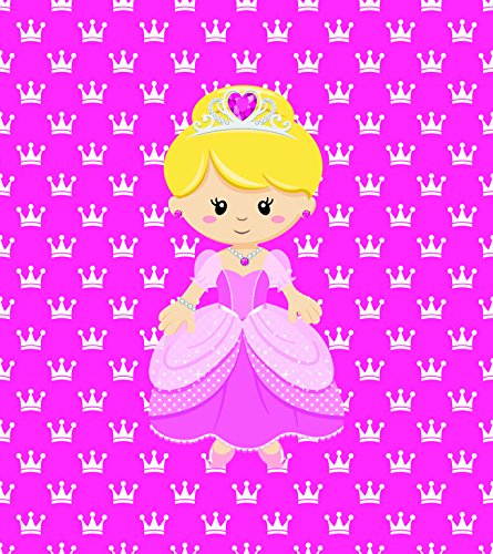 [Princess on Pink Design, Fabric Panel Printed on Organic Knit, 15 Inches Wide X 19 Inches High (2] (Fairy Princess Costume Diy)