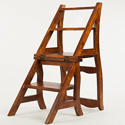 Amazon.com: WSSF- Household Multifunctional Ladder Stool/Chair With ...