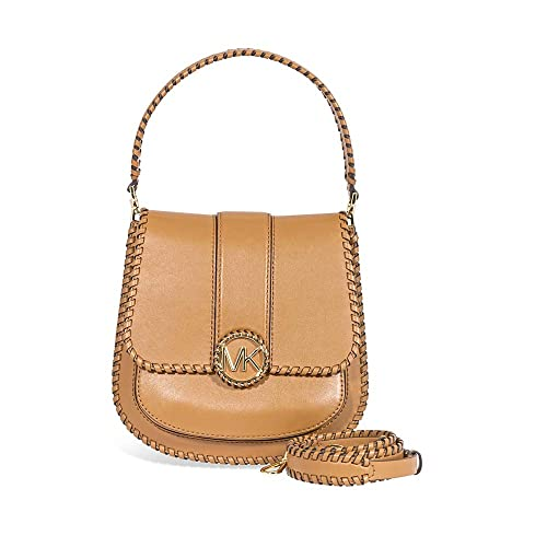 21d0e5cbe57c39 MICHAEL Michael Kors Women's Lillie Medium Leather Shoulder Bag Brown One  Size
