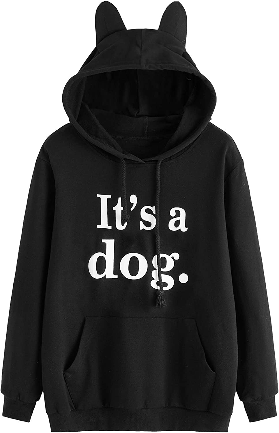 Mens Our Team Long Sleeve Screen Print Hooded Fleece Pullover Baby Cat