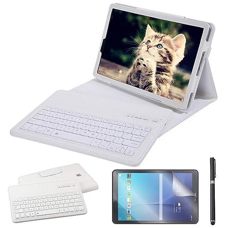 Amazon com: Galaxy Tab S4 10 5 Keyboard Case, REAL-EAGLE PU