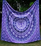 Apoorva's Ombre Mandala Tapestry, Indian Ombre Tapestry, Hippie Tapestries, Wall Tapestries, Hippy Boho Throw, Bohemian Tapestries, Home Decor (Purple)