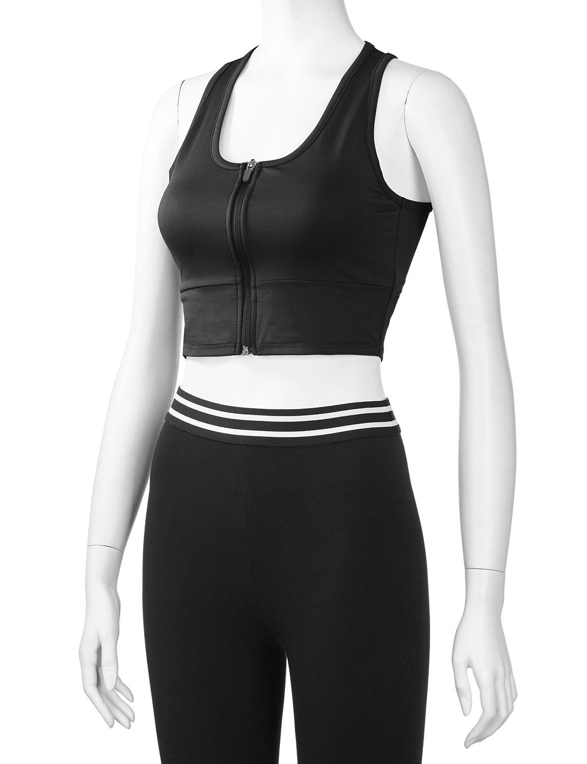 REGNA X Women Racerback Sports Bras Seamless High Support Bra for Gym Black L by Regna X (Image #6)