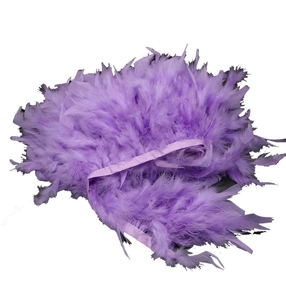 4~6 Pulgadas con Flecos para Manualidades Pack de 2 Yardas de Plumas de Pavo te/ñidas Naturales Disfraces KOLIGHT decoraci/ón Amarillo