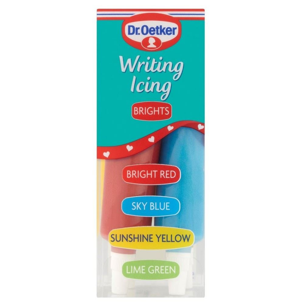 Dr. Oetker Writing Icing Brights (76g) - Pack of 2