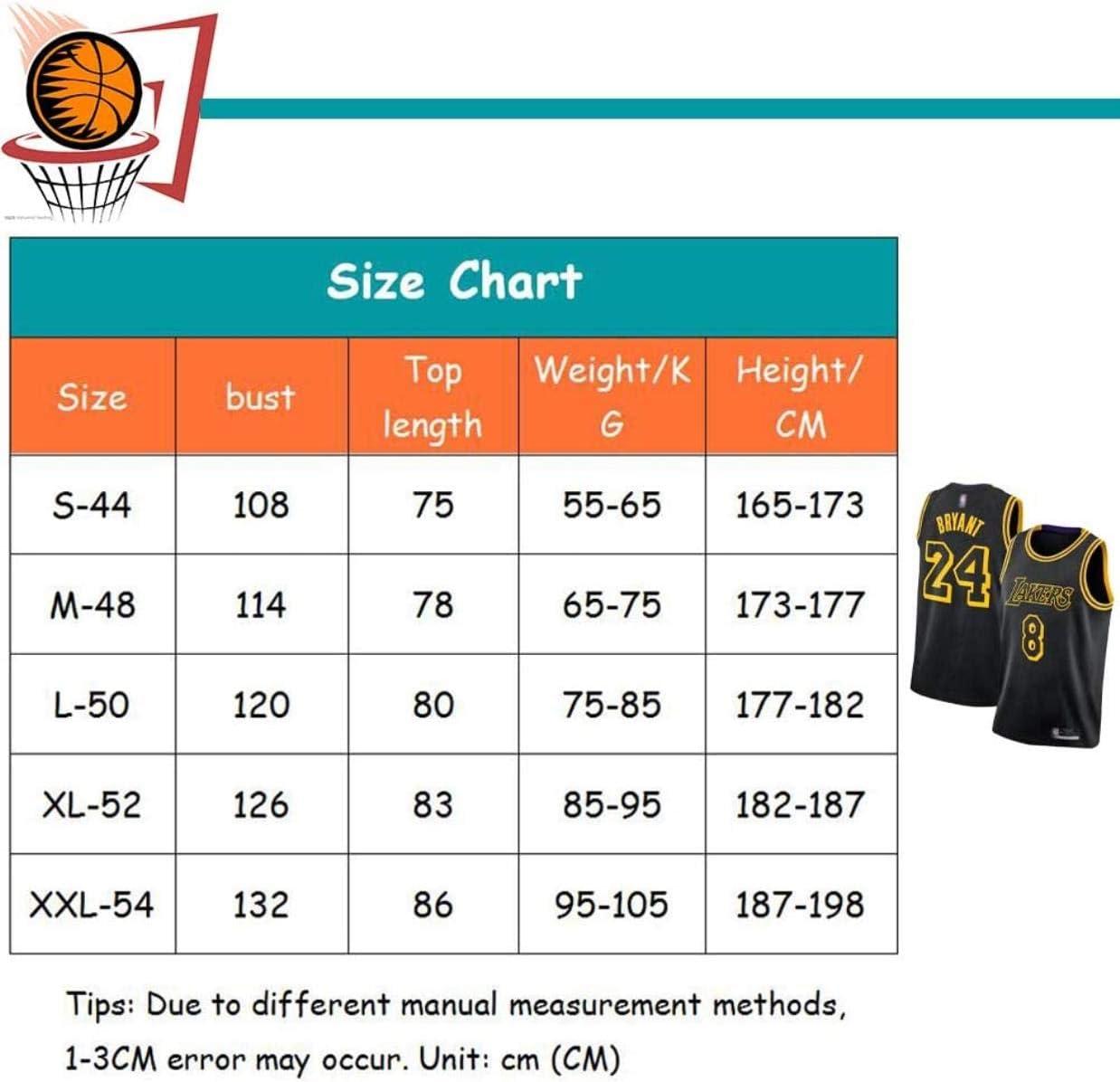 gaojian Bryant # 24 # 8 Special Edition Basketball Jersey Black Mamba Memorial Basketball Uniform Swingman Sportswear Breathable Comfortable Sweatshirt.-XL,Small