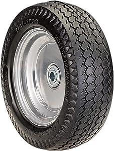 SLT 4.10/3.50-4LP Flat Free Wheelbarrow Tire on Wheel, 2.2