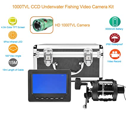 fosa Portable Fishing Finder Camera 1000TVL CCD Underwater Fishing Video Camera Kit with 4.3in Color