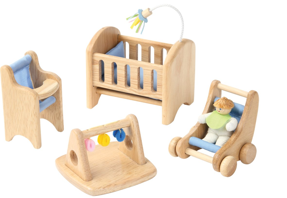 Mobili Per Bambole In Legno : Voila cameretta dei bambini per casa delle bambole in legno