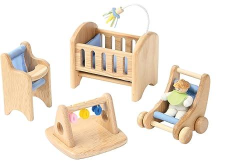 Mobili Per Casa Delle Bambole : Voila mobili in legno per la nursery della casa delle bambole