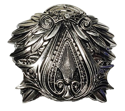 Assassin's Creed Brotherhood EZIO Pewter Finish Belt Buckle (Buckle Belt Mens Pewter)