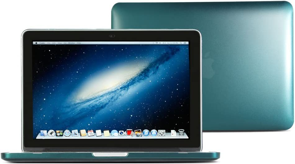 Macbook Pro Retina 13 Case, GMYLE Hard Case Metallic Color for Macbook Pro Retina 13 inch (Model: A1425 and A1502) - Metallic Dark Cyan Green Polycarbonate Cover (Not Fit For Macbook Pro 13)
