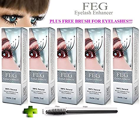 608ce51a7e4 5 X BEST Eyelash Growth Product and Eyebrow Thickener. Most Effective  Growth Serum to LENGTHEN & THICKEN Eyelashes and Eyebrows; 100% Original  with ...