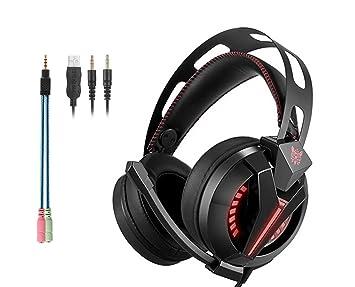 Cascos Auriculares Gaming con Micrófono ArkarTech Headset Auricular Gamer para Juegos Jack de 3,5mm
