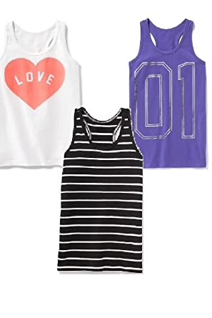e62d86ea3d1e8 Summer Sale Fitted Racerback Tanks Set for Girls-3 Included and! (Medium)