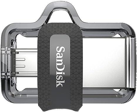 SanDisk Ultra Dual m3.0 - Unidad Dual con conector micro-USB en un extremo y un conector USB 3.0, 128 GB