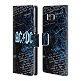 Official AC/DC ACDC Lyrics Logo Leather Book Wallet Case Cover For Samsung Galaxy S8+ / S8 Plus
