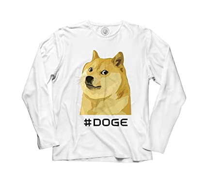 T-shirt Homme Manche Longue Doge Is Love Doge I Life Meme Dog Fun Humour